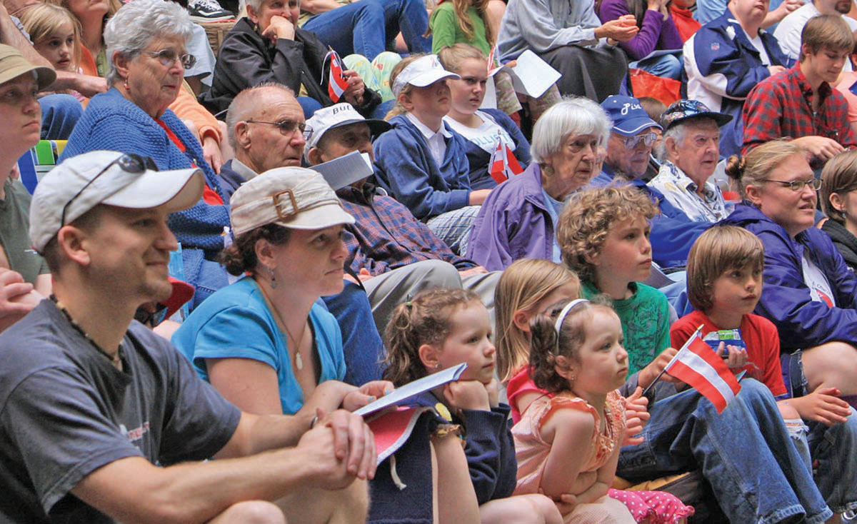 Audience enjoying Sound of Music at the Kitsap Forest Theater, 2010